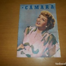 Cine: CAMARA REVISTA CINEMATOGRÁFICA 5 PTS. Nº 159 15 AGOSTO 1949 CLAUDETTE COLBERT J. DE ORDUÑA J. PETERS. Lote 83597432