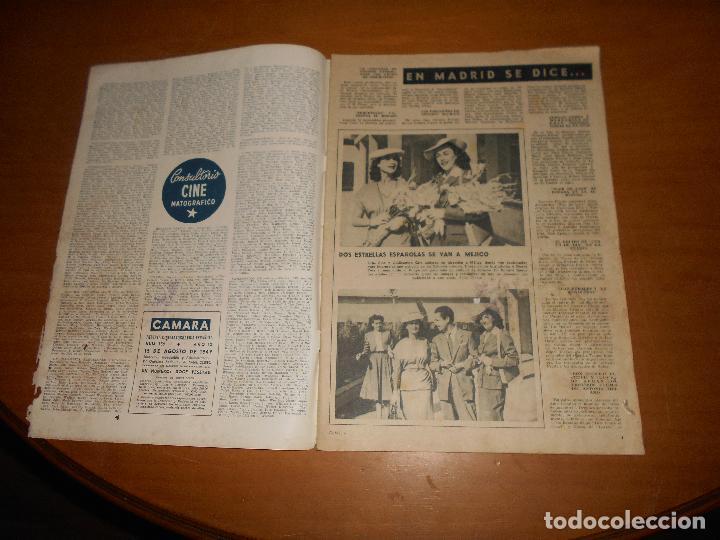 Cine: CAMARA REVISTA CINEMATOGRÁFICA 5 PTS. Nº 159 15 AGOSTO 1949 CLAUDETTE COLBERT J. DE ORDUÑA J. PETERS - Foto 2 - 83597432