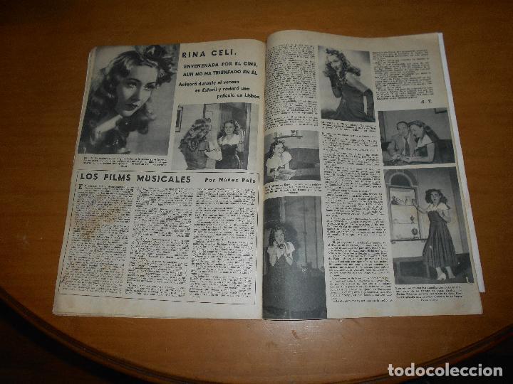 Cine: CAMARA REVISTA CINEMATOGRÁFICA 5 PTS. Nº 159 15 AGOSTO 1949 CLAUDETTE COLBERT J. DE ORDUÑA J. PETERS - Foto 4 - 83597432