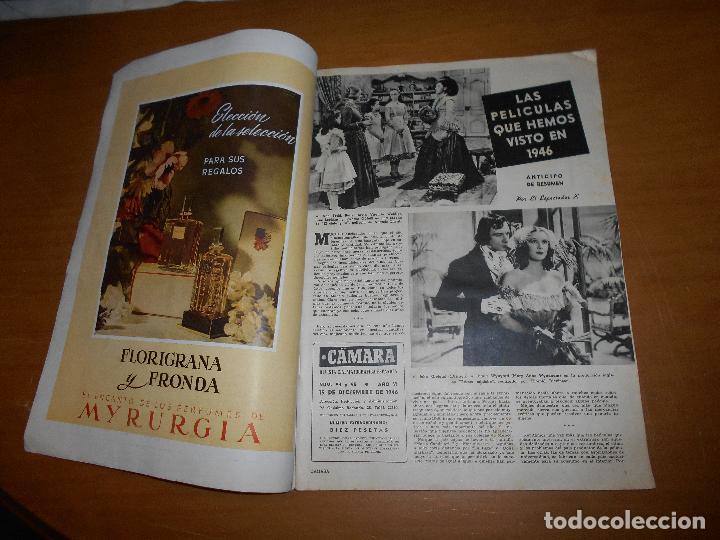 Cine: CAMARA REVISTA CINEMATOGRÁFICA 10 PTS Nº 94 95 1946 DIC. EXTRAORDINARIO LARAIN DAY MANUEL KAYSER - Foto 2 - 83598028