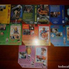 Cine: LOTE DE 7 CARÁTULAS DE VÍDEO PROMOCIONALES (DISTRIBUIDORA LANKASTER) CARÁTULA VHS Y BETA. Lote 83854748