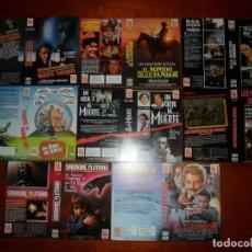 Cine: LOTE DE 8 CARÁTULAS DE VÍDEO (DISTRIBUIDORA H. G. TRAVELLING) CARÁTULA VHS Y BETA. Lote 83855104