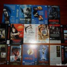 Cine: LOTE DE 8 CARÁTULAS PROMOCIONALES DE VÍDEO (DISTRIBUIDORA AS) 2 SON DE MAC - CARÁTULA VHS Y BETA. Lote 83856908