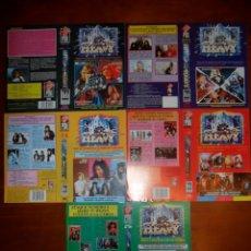Cine: LOTE DE 10 CARÁTULAS DE VÍDEO (MUSICALES, SOBRE TODO HEAVY METAL) CARÁTULA VHS Y BETA. Lote 83865784