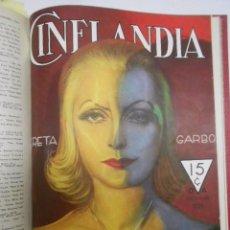 Cine: CINELANDIA: AÑO 1933 COMPLETO,12 REVISTAS PUBLICADAS EN HOLLYWOOD CONSERVAN CUBIERTAS. GRETA GARBO. Lote 83935540