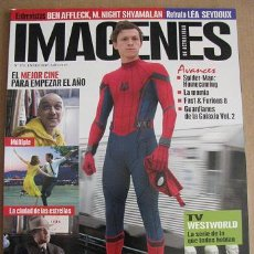 Cine: REVISTA IMAGENES Nº375 (EN PORTADA:AVANCE SPIDER-MAN HOMECOMING) ¡¡LEER DESCRIPCION!!. Lote 84430672