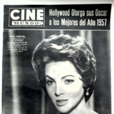 Cine: CINE MUNDO N° 316 03/1958 PORTADA SARA MONTIEL,ELVIS,OSCAR1957•. Lote 84640406