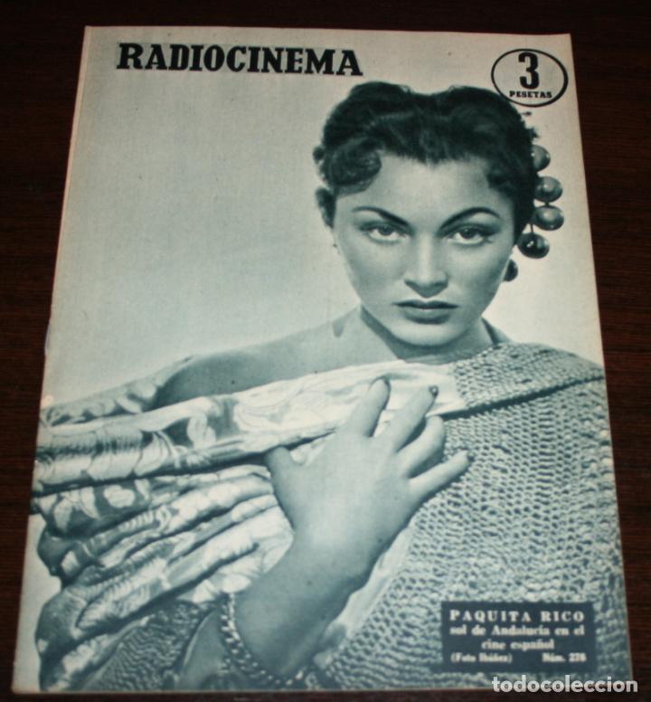 RADIOCINEMA Nº 278 - 19-XI-1955 - PORTADA: PAQUITA RICO - CONTRA: LUCILLE BALL, JAMES MASON (Cine - Revistas - Radiocinema)