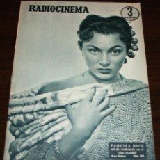 Cine: RADIOCINEMA Nº 278 - 19-XI-1955 - PORTADA: PAQUITA RICO - CONTRA: LUCILLE BALL, JAMES MASON. Lote 84668236