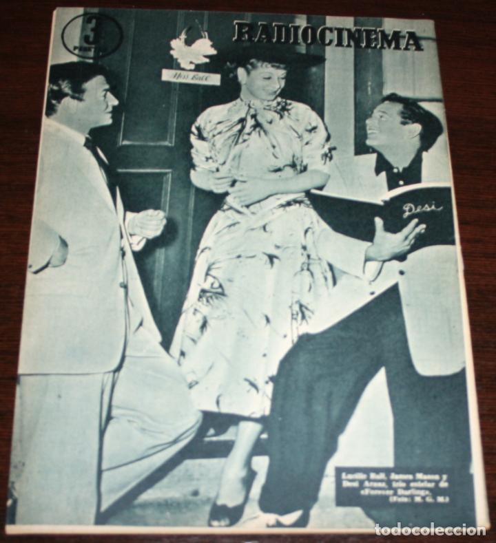 Cine: RADIOCINEMA Nº 278 - 19-XI-1955 - PORTADA: PAQUITA RICO - CONTRA: LUCILLE BALL, JAMES MASON - Foto 2 - 84668236