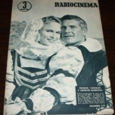 Cine: RADIOCINEMA Nº 277 - 12-XI-1955 - PORTADA: SUSANA CANALES, GEORGES MARCHAL - CONTRA: MAMIE VAN DOREN. Lote 84668336
