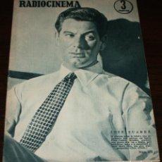 Cine: RADIOCINEMA Nº 270 - 24-IX-1955 - PORTADA: JOSE SUAREZ - CONTRA: MARA CORDAY. Lote 84668972