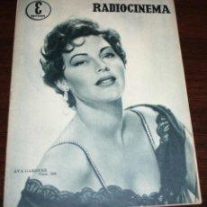Cinema: RADIOCINEMA Nº 266 - 27-VIII-1955 - PORTADA: AVA GARDNER - CONTRA: MAMY VAN DOREN. Lote 84669276