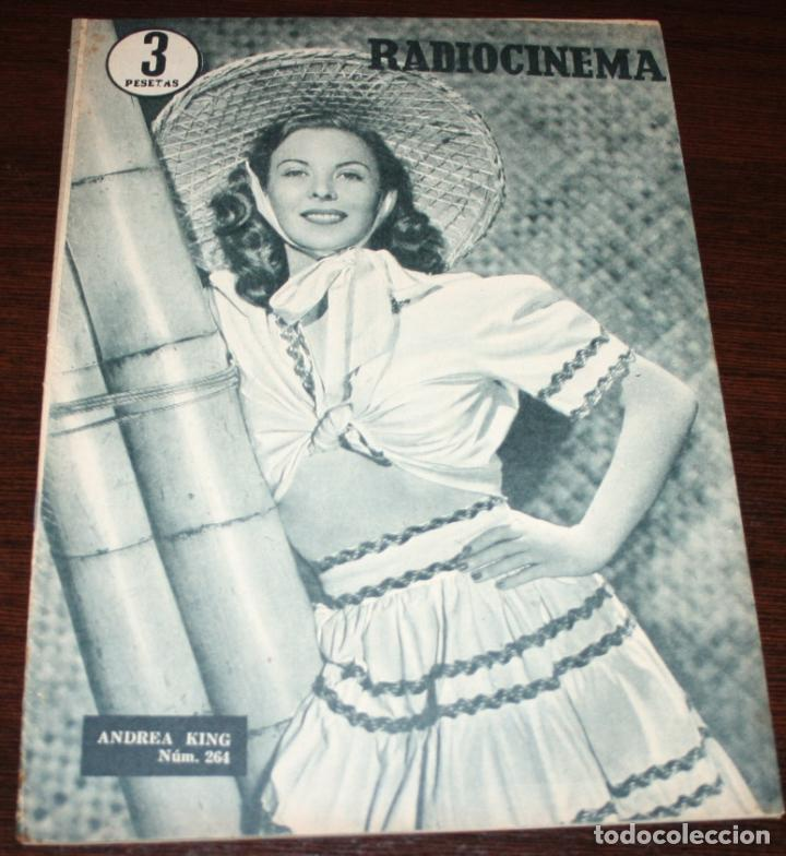 RADIOCINEMA Nº 264 - 13-VIII-1955 - PORTADA: ANDREA KING - CONTRA: VAN JOHNSON (Cine - Revistas - Radiocinema)