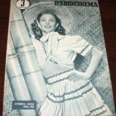 Cine: RADIOCINEMA Nº 264 - 13-VIII-1955 - PORTADA: ANDREA KING - CONTRA: VAN JOHNSON. Lote 84669424
