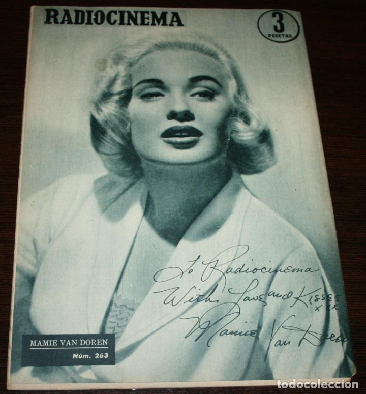 Cine: RADIOCINEMA Nº 263 - 6-VIII-1955 - PORTADA: RUSS TAMBLYN - CONTRA: MAMIE VAN DOREN - Foto 2 - 84669464