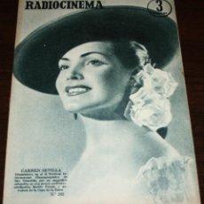 Cine: RADIOCINEMA Nº 262 - 30-VII-1955 - PORTADA: CARMEN SEVILLA - CONTRA: RORY CALBOUN. Lote 84669488