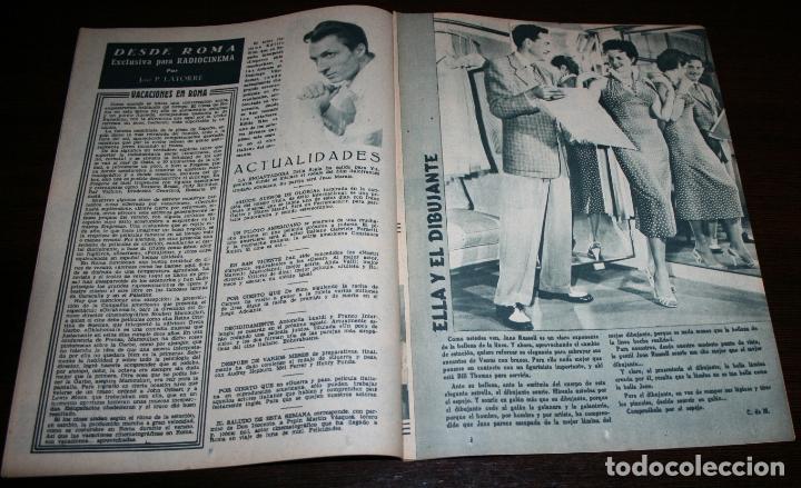 Cine: RADIOCINEMA Nº 261 - 23-VII-1955 - PORTADA: ELEANOR PARKER - CONTRA: MARIO LANZA - Foto 3 - 84669524