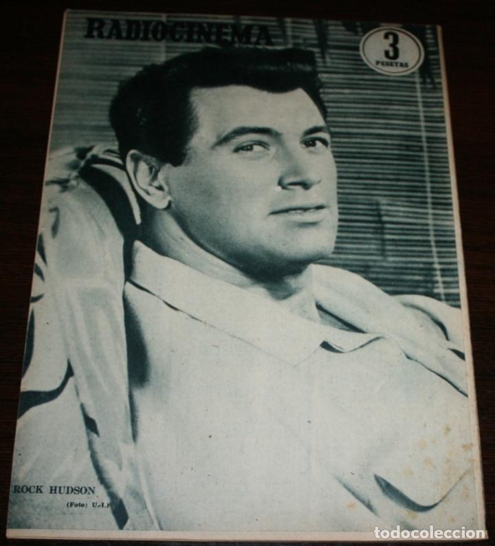 Cine: RADIOCINEMA Nº 259 - 9-VII-1955 - PORTADA: MARIA LUZ GALICIA - CONTRA: ROCK HUDSON - Foto 2 - 84669596