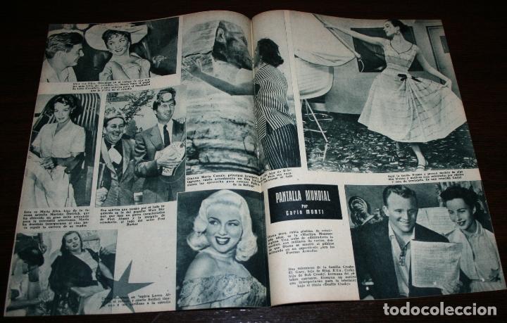 Cine: RADIOCINEMA Nº 259 - 9-VII-1955 - PORTADA: MARIA LUZ GALICIA - CONTRA: ROCK HUDSON - Foto 3 - 84669596