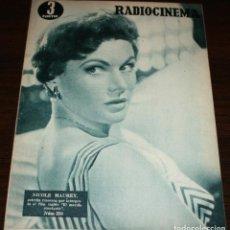 Cine: RADIOCINEMA Nº 238 - 12-II-1955 - PORTADA: NICOLE MAUREY - CONTRA: GERARD PHILIPHE. Lote 161542396