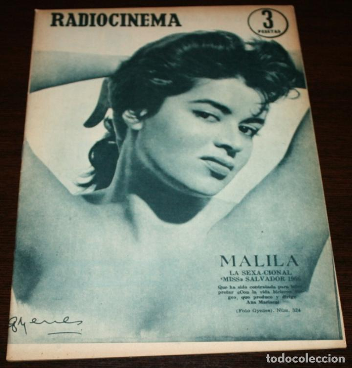 RADIOCINEMA Nº 324 - 6-X-1956 - PORTADA: MALILA - CONTRA: GEORGE NADER, DANIS CROYNE (Cine - Revistas - Radiocinema)