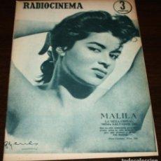 Cine: RADIOCINEMA Nº 324 - 6-X-1956 - PORTADA: MALILA - CONTRA: GEORGE NADER, DANIS CROYNE. Lote 84684260