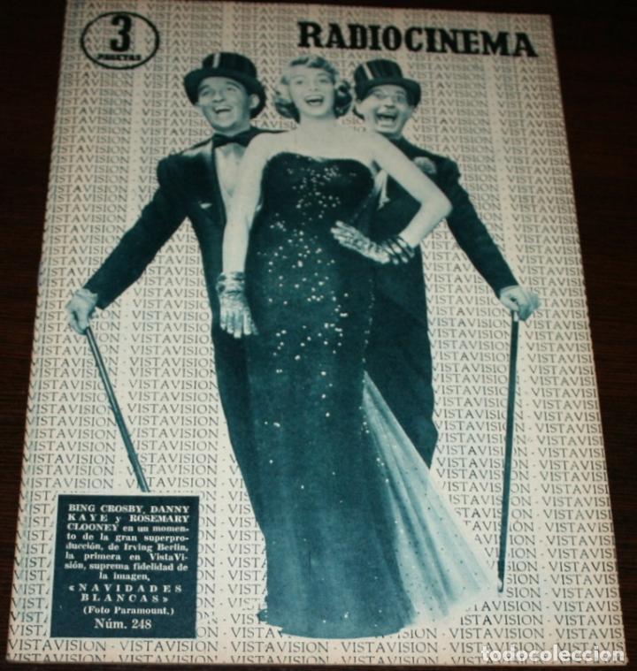 RADIOCINEMA Nº 248 - 23-IV-1955 - PORTADA: BING CROSBY, DANNY KAYE... - CONTRA: EDMUND PURDOM (Cine - Revistas - Radiocinema)