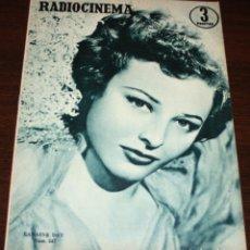 Cine: RADIOCINEMA Nº 247 - 16-IV-1955 - PORTADA: LARAINE DAY - CONTRA: JACK CARSON. Lote 84684932