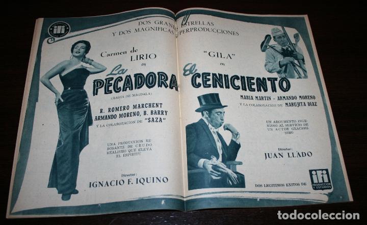 Cine: RADIOCINEMA Nº 246 - 9-IV-1955 - PORTADA: EMMA PENELLA - CONTRA: ISSA PEREIRA - Foto 3 - 84685144