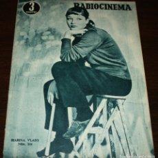 Cine: RADIOCINEMA Nº 244 - 26-III-1955 - PORTADA: MARINA VLADY - CONTRA: KIRK DOUGLAS. Lote 84685464
