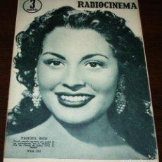 Cine: RADIOCINEMA Nº 241 - 5-III-1955 - PORTADA: PAQUITA RICO - CONTRA: DENNIS MORGAN. Lote 84686020
