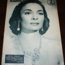 Cine: RADIOCINEMA Nº 257 - 25-VI-1955 - PORTADA: SILVIA MORGAN - CONTRA: FAITH DOMERGUE. Lote 84686284