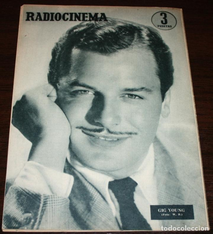 Cine: RADIOCINEMA Nº 256 - 18-VI-1955 - PORTADA: ANN BLYTH - CONTRA: GIG YOUNG - Foto 2 - 84686528