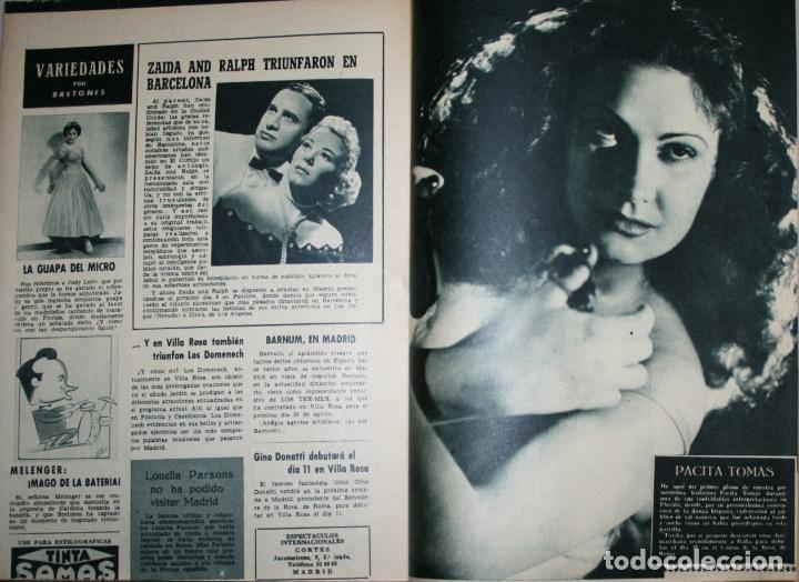 Cine: RADIOCINEMA Nº 258 - 2-VI-1955 - PORTADA: GLORIA GRAHAME - CONTRA: LANA TURNER, LEX BARKER - Foto 3 - 84687928