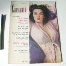 Cine: REVISTA DE CINE CINELANDIA DE DICIEMBRE - TOMO XX NÚMERO 10 DE OCTUBRE DE 1946. Lote 84892804