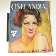 Cine: REVISTA DE CINE CINELANDIA - TOMO VIII NÚMERO 3 DE MARZO DE 1934. Lote 84893576