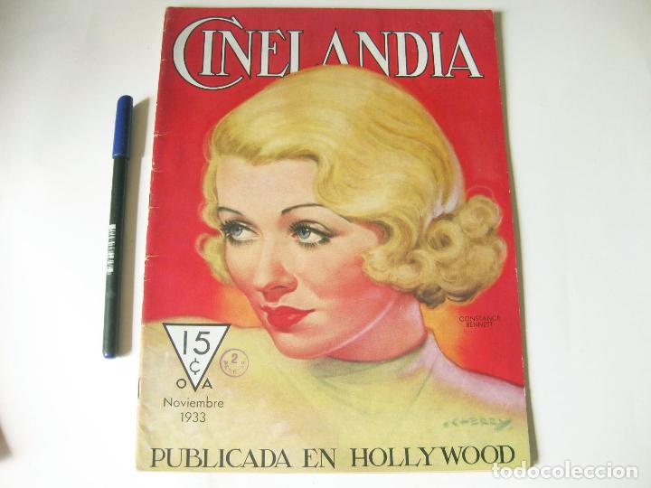REVISTA DE CINE CINELANDIA - TOMO VII NÚMERO 11 DE NOVIEMBRE DE 1933 (Cine - Revistas - Cinelandia)