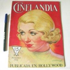 Cine: REVISTA DE CINE CINELANDIA - TOMO VII NÚMERO 11 DE NOVIEMBRE DE 1933. Lote 84893800