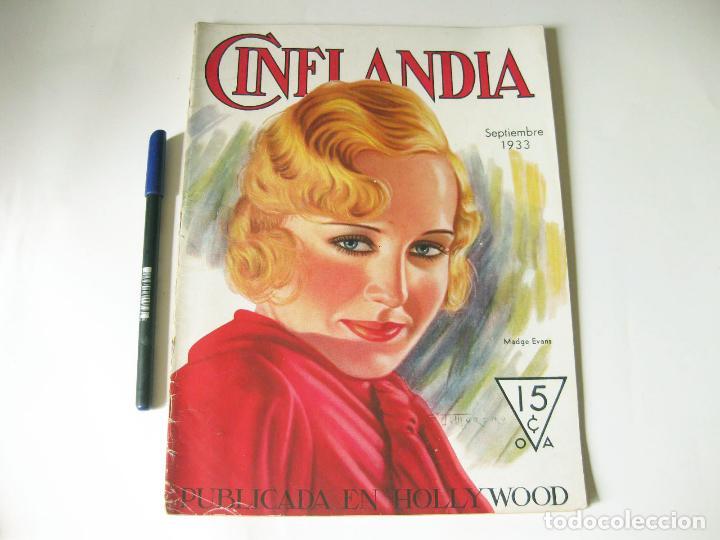 REVISTA DE CINE CINELANDIA - TOMO VII NÚMERO 9 DE SEPTIEMBRE DE 1933 (Cine - Revistas - Cinelandia)