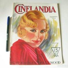 Cine: REVISTA DE CINE CINELANDIA - TOMO VII NÚMERO 9 DE SEPTIEMBRE DE 1933. Lote 84893832