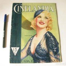 Cine: REVISTA DE CINE CINELANDIA - TOMO VII NÚMERO 8 DE AGOSTO DE 1933. Lote 84893920
