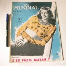 Cine: REVISTA DE CINE - CINE MUNDIAL - VOLUMEN XXXI NÚMERO 4 DE ABRIL DE 1946. Lote 84894532