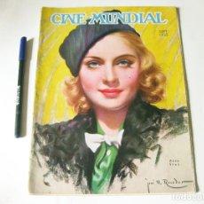 Cine: REVISTA DE CINE - CINE MUNDIAL - VOLUMEN XX NÚMERO 9 DE SEPTIEMBRE DE 1935. Lote 84894832