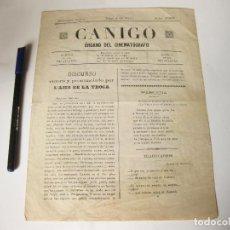 Cine: REVISTA DE CINE CANIGÓ. ORGANO DEL CINEMATÓGRAFO. NÚMERO ÚNICO. VICH, 4 DE JULIO DE 1907. Lote 84897932