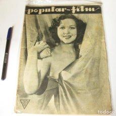 Cine: REVISTA DE CINE POPULAR FILM. AÑO VIII, NÚMERO 367 DE AGOSTO DE 1933. Lote 84898276