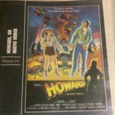 Cine: 'HOWARD - UN NUEVO HÉROE', CON LEA THOMPSON. FICHA COLECCIONABLE DE REVISTA DIARIO 16.. Lote 85041664