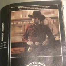 Cine: 'URBAN COWBOY', CON JOHN TRAVOLTA. FICHA COLECCIONABLE DE REVISTA DIARIO 16.. Lote 85098464
