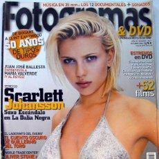 Cine: REVISTA DE CINE FOTOGRAMAS OCTUBRE 2006-JOHANSSON-EL LABERINTO DE FAUNO DE G. DEL TORO-B. LUNAS-NICO. Lote 85170304
