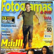 Cine: REVISTA DE CINE FOTOGRAMAS MAYO 2006-CODIGO DAVINCI-MISIÓN IMPOSIBLE 3-JAMES BOND-1. Lote 85220356